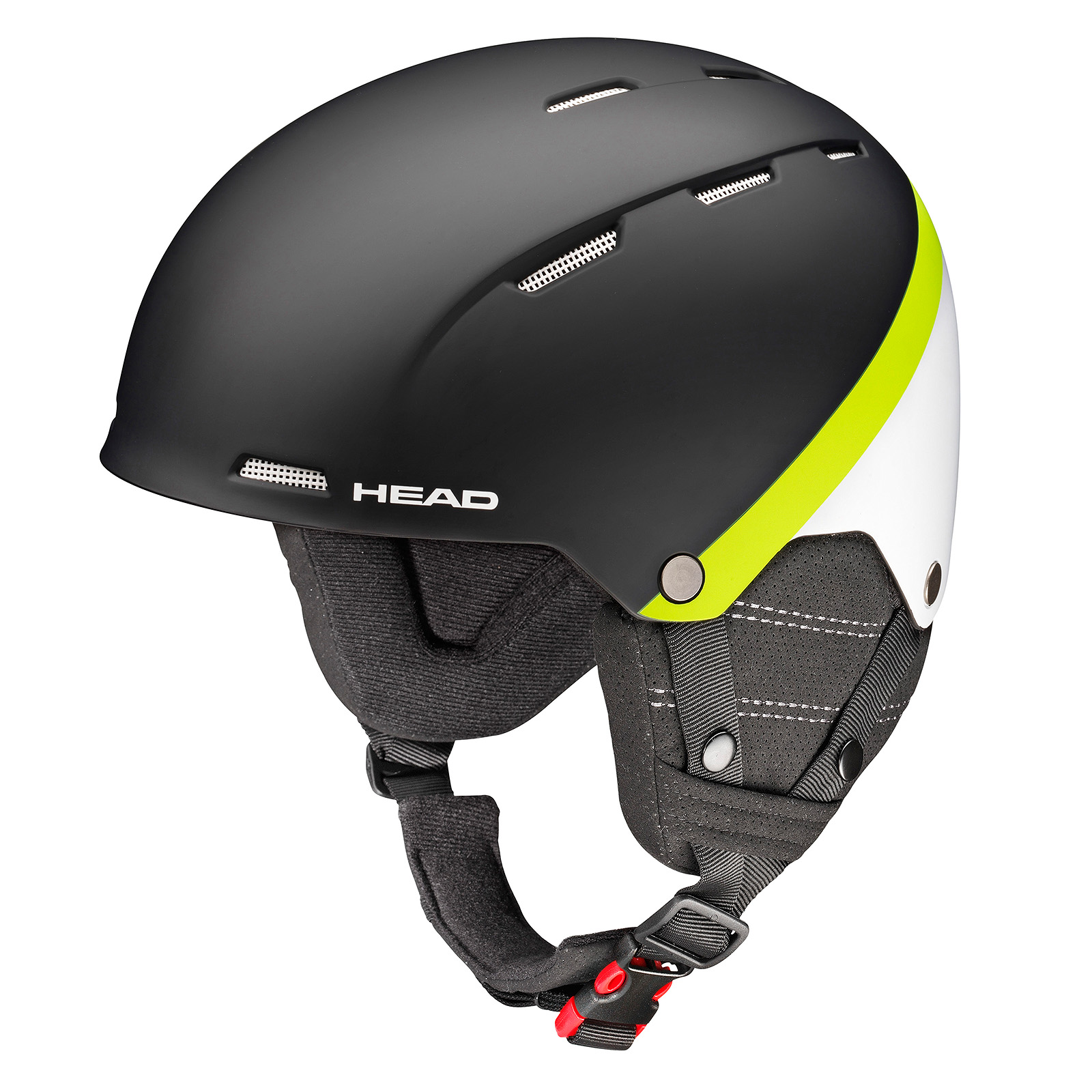HEAD CASCO TUCKER BOA black/lime - 2018