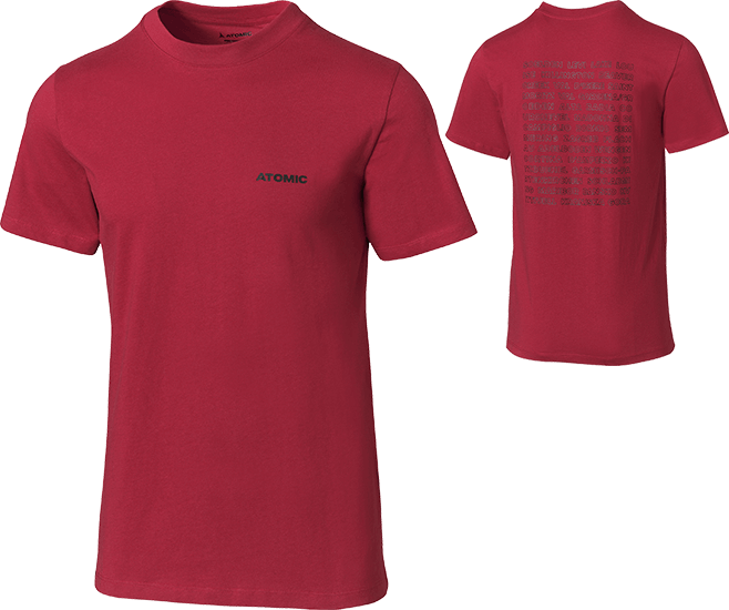 ATOMIC T-SHIRT RS WC rosso scuro - 2021